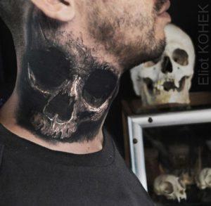 スカル(骸骨)タトゥー|リアリスティック