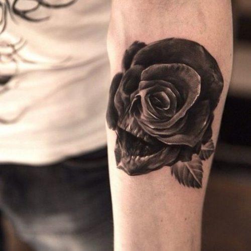 薔薇 タトゥー ブラックアンドグレイ