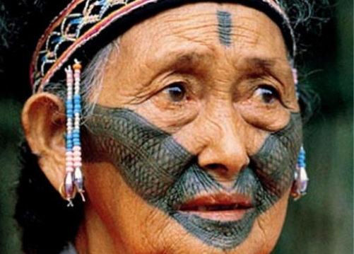 台湾のトライバル|顔面タトゥー