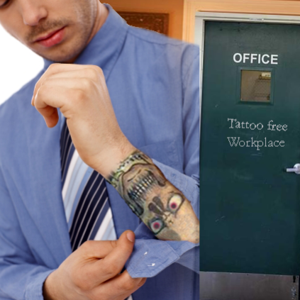 タトゥーの入ったビジネスマン