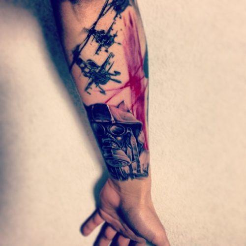 Mahのタトゥー 腕