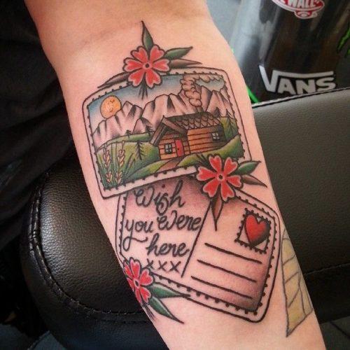 はがきサイズのタトゥー