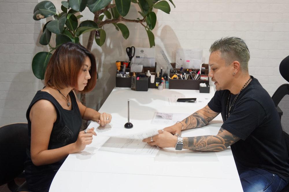 タトゥー・刺青のカウンセリング