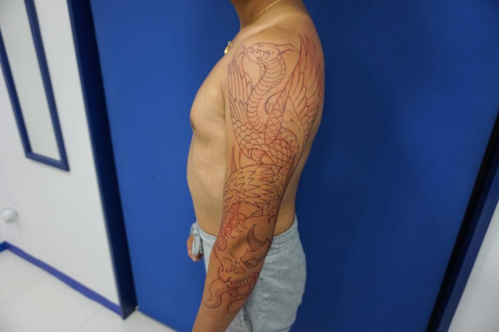 フリーハンドタトゥーの方法