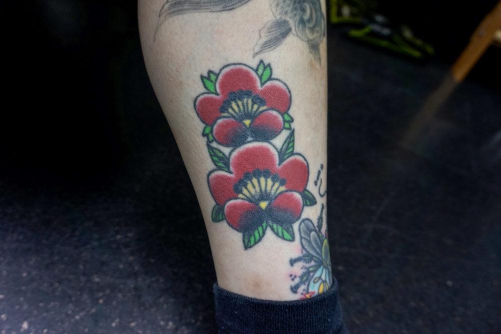 梅の花のタトゥー・刺青