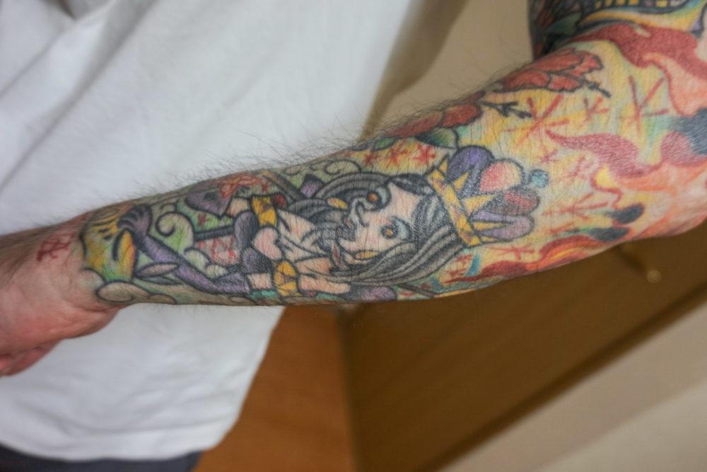 増田太輝さんの腕のタトゥー