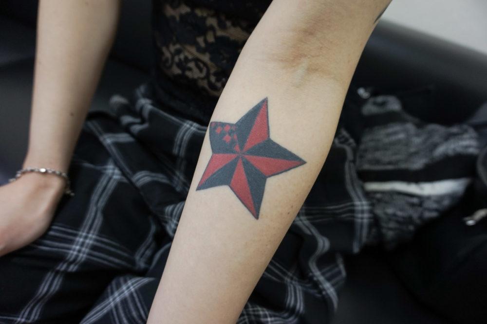 ノーティカルスターのタトゥー・刺青