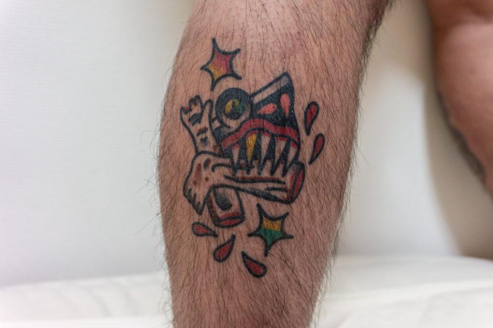 サメのトラディショナルタトゥー