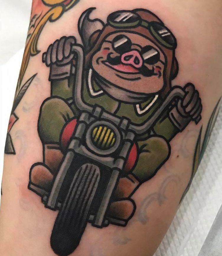 Kowhey氏|ジブリ・紅の豚のタトゥー