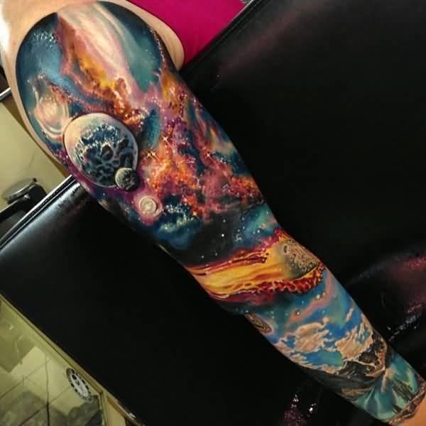 宇宙のスリーブタトゥー