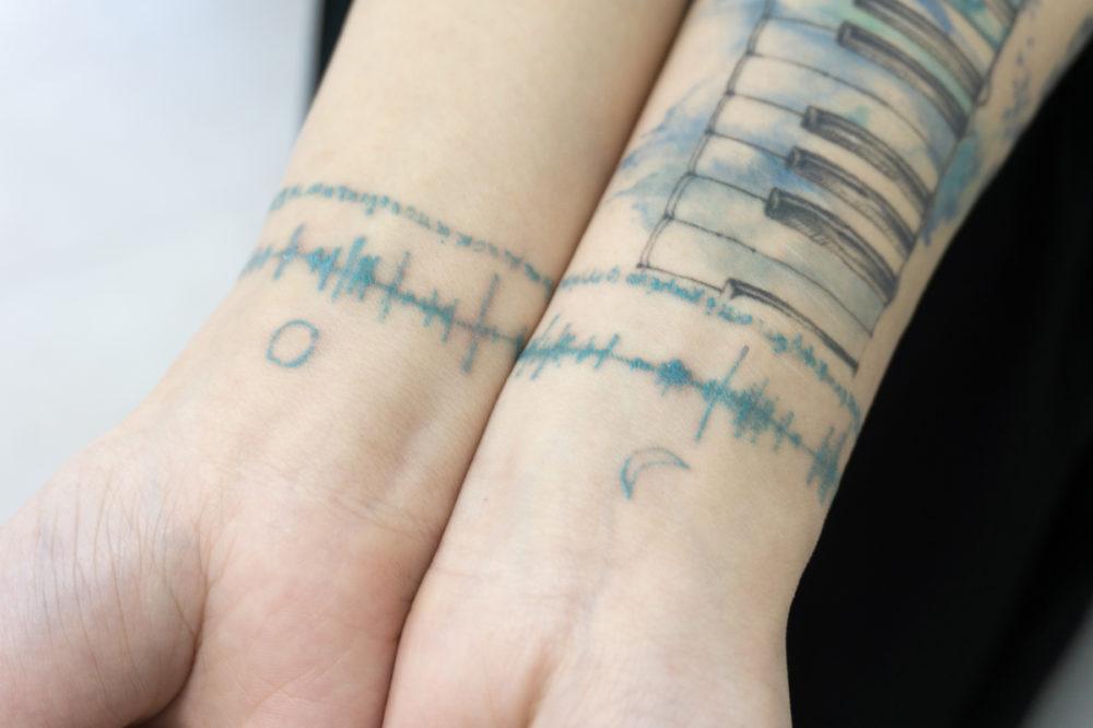 音・波形のタトゥー