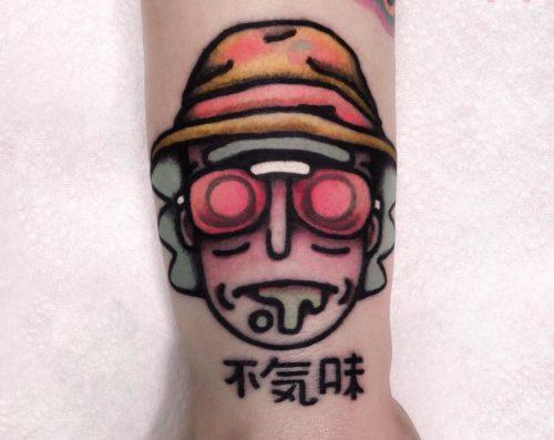 アクセントとしての漢字のタトゥー