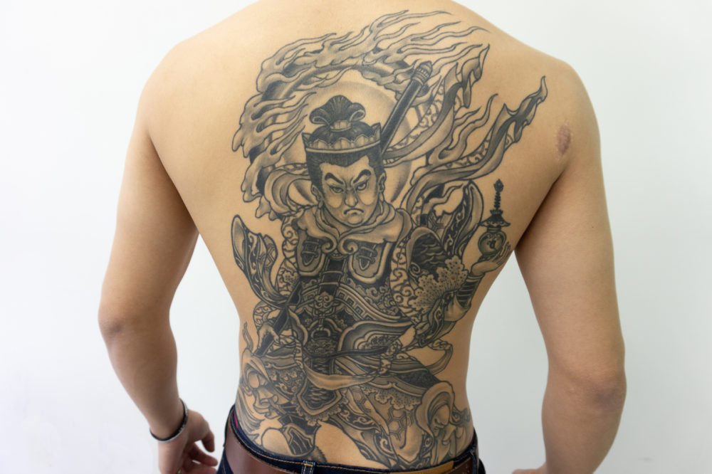 毘沙門天の刺青|背中の和彫り
