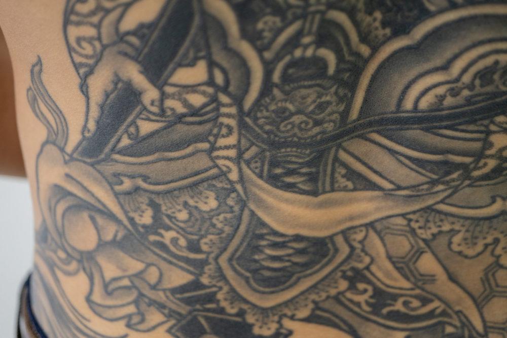 毘沙門天の刺青・タトゥー|背中の和彫り