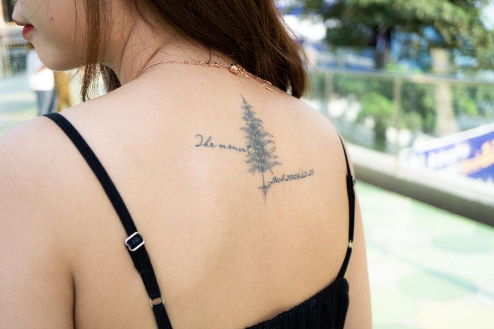 タイにいた観光客女性のタトゥー