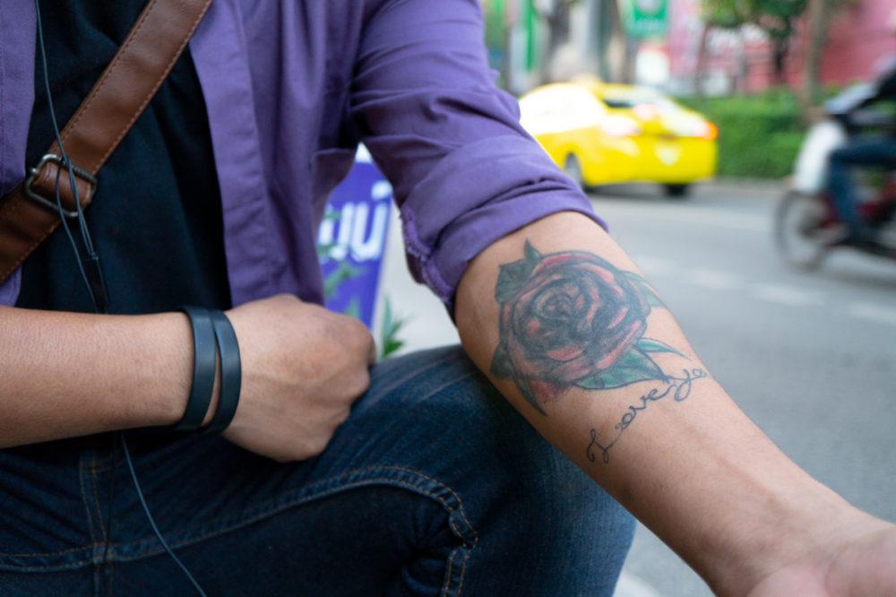 タイ在住の男性のタトゥー