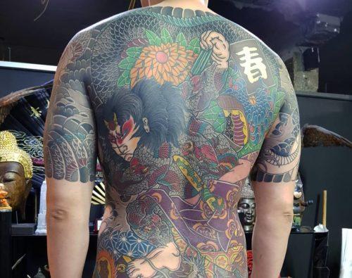 九紋龍史進の刺青・タトゥー|背中の和彫り