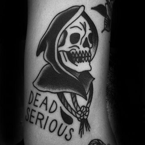 スカル(骸骨)|ブラックトラディショナルタトゥー