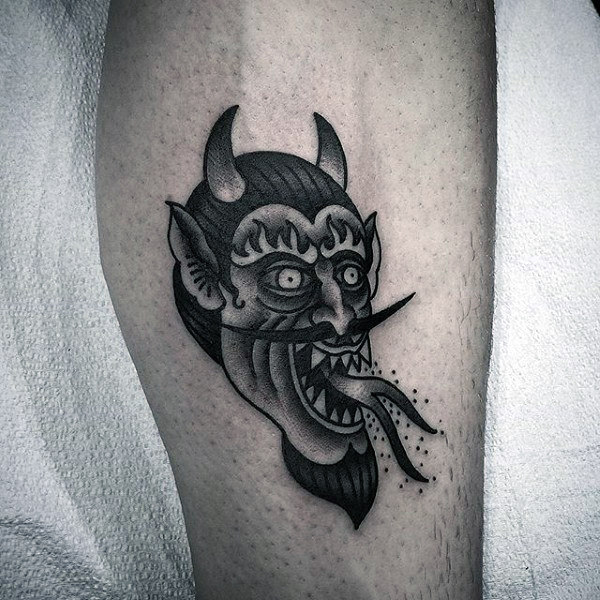 悪魔(デビル)のタトゥー|ブラックトラディショナル