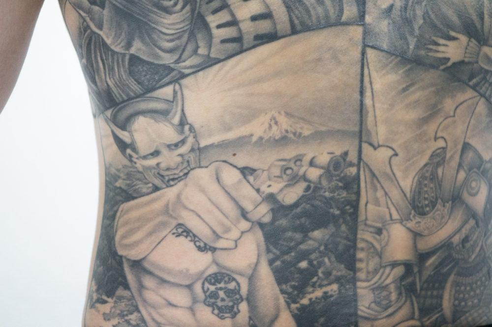 タトゥー・刺青|チカーノ風ブラックアンドグレイ