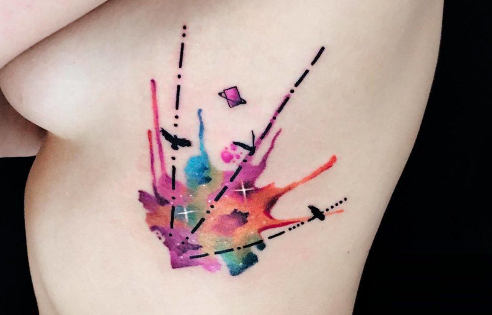 水彩タトゥー|カラーワーク