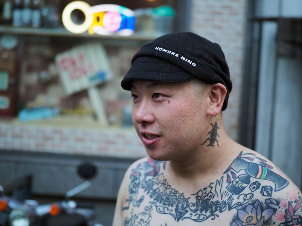 T-VRS(ラッパー)のタトゥー
